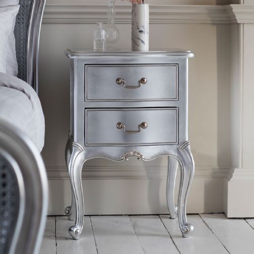 Chic Bedside in Silver